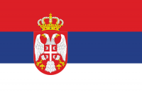 Serbia and Montenegro's flag.