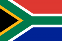 South Africa's flag.